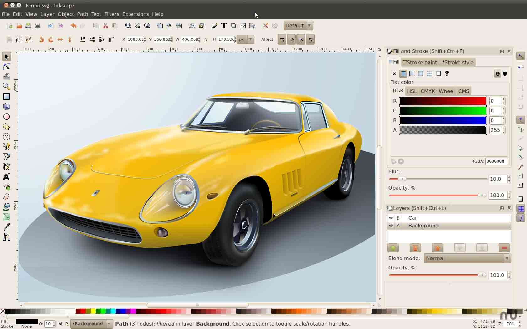 Inkscape is a free and open source vector graphics editor