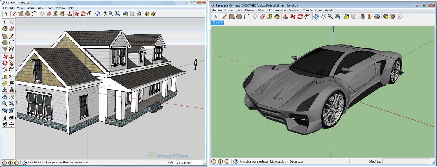 SketchUp stands out from other 3D modeling programs for its peculiarly intuitive workflow