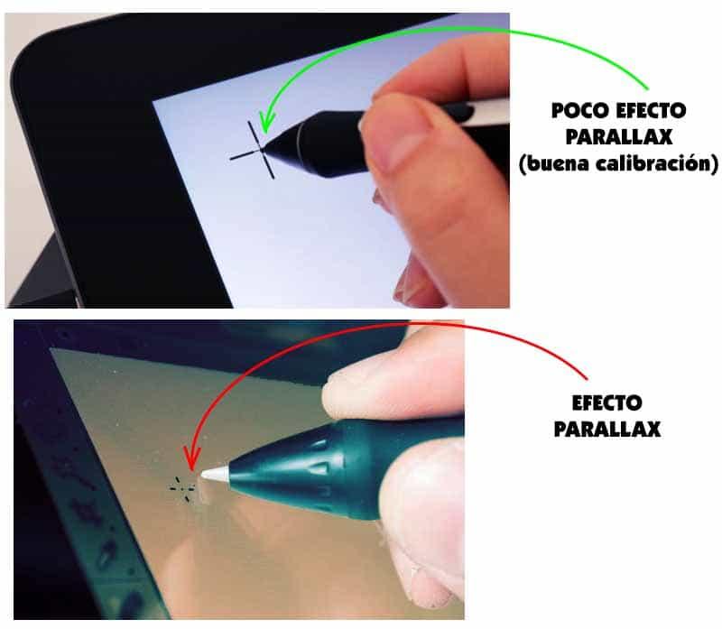 Efecto Parallax en tabletas gráficas con pantalla
