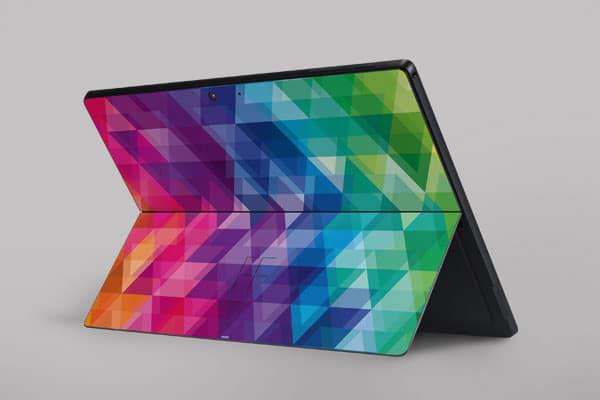 skin para personalizar microsoft surface pro geometric