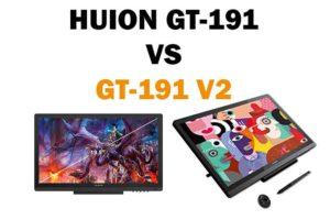 huion gt-191 versus gt-191 v2