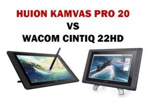 Huion Kamvas Pro 20 vs Wacom Cintiq 22 HD
